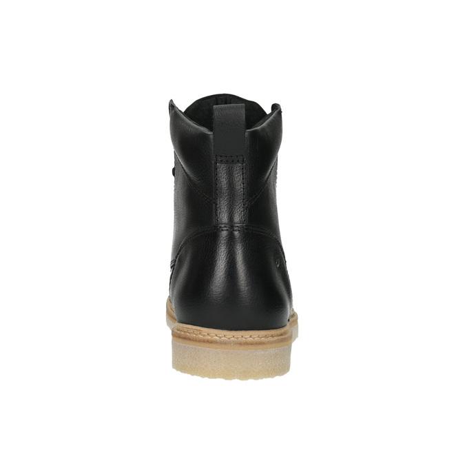 Pánská kožená kotníčková obuv bata, černá, 896-6652 - 17