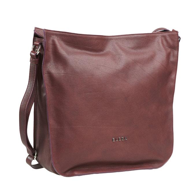 Kožená kabelka elega, fialová, 964-5170 - 13