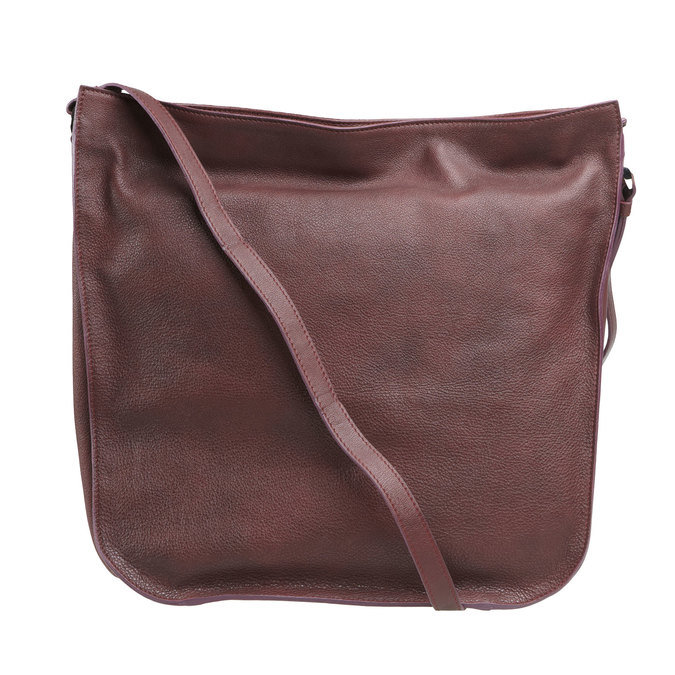 Kožená kabelka elega, fialová, 964-5170 - 26