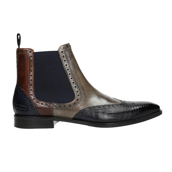 Kožené Chelsea Boots s Brogue zdobením, hnědá, 894-3009 - 15
