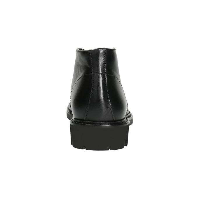 Pánská kožená obuv na výrazné podešvi bata, černá, 844-6628 - 17