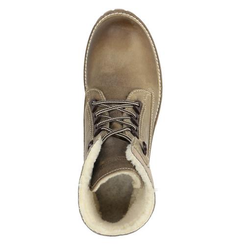 Kožená zimní obuv s kožíškem weinbrenner, šedá, 594-2491 - 19