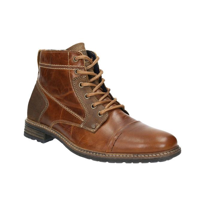 Kožená kotníčková obuv pánská bata, hnědá, 894-4621 - 13