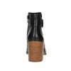 Kožené kotníčkové kozačky s přezkou vagabond, černá, 794-6001 - 17
