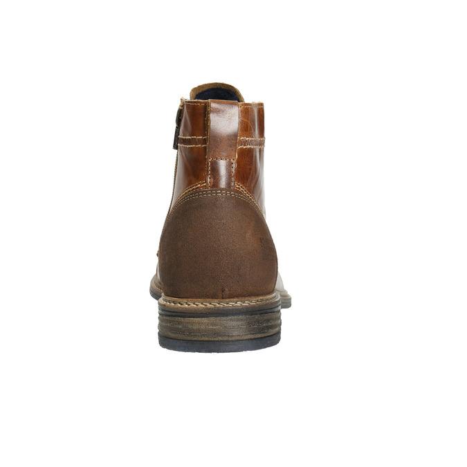 Kožená kotníčková obuv pánská bata, hnědá, 894-4621 - 17