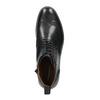Kožená kotníčková obuv s Brogue zdobením vagabond, černá, 894-6003 - 19