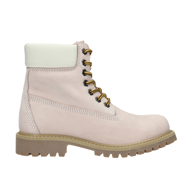 Dětská kožená obuv na výrazné podešvi weinbrenner-junior, růžová, 396-5182 - 15