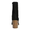 Dámské kozačky na zkoseném podpatku vagabond, černá, 716-6012 - 17