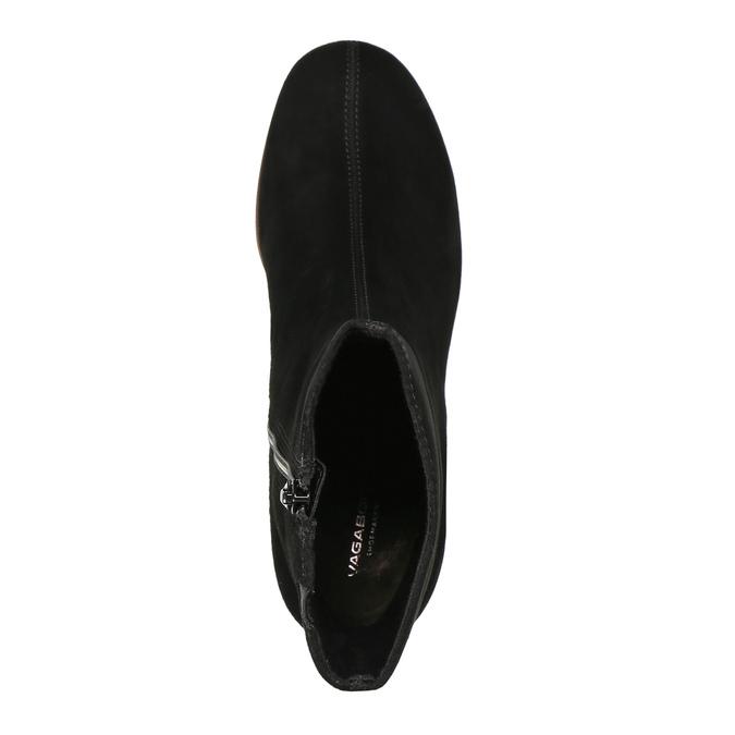 Dámské kozačky na zkoseném podpatku vagabond, černá, 716-6012 - 19