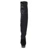 Kožené kozačky nad kolena vagabond, černá, 594-6013 - 17