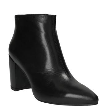 Kožená kotníčková obuv vagabond, černá, 714-6001 - 13