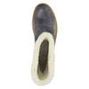 Kožená zimní obuv s kožíškem weinbrenner, modrá, 596-6628 - 19