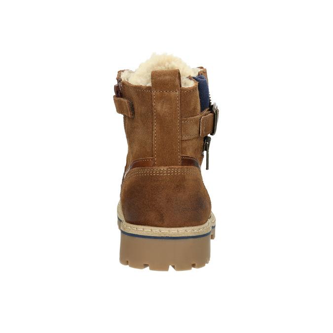 Dětská obuv se zateplením bull-boxer, hnědá, 494-3002 - 17