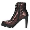 Kožená kotníčková obuv na podpatku bata, červená, 796-5638 - 26
