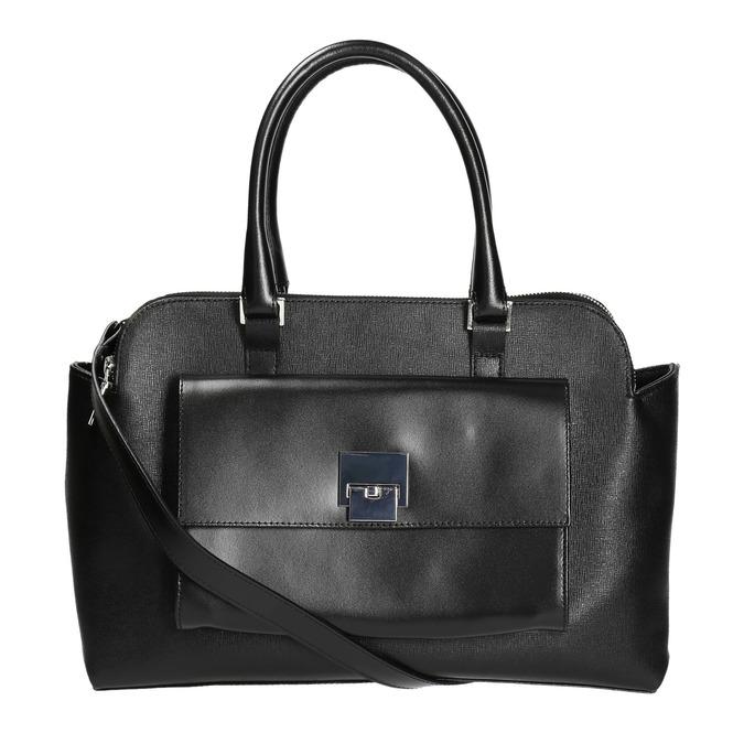Elegantní kožená kabelka gino-rossi, černá, 964-6021 - 19