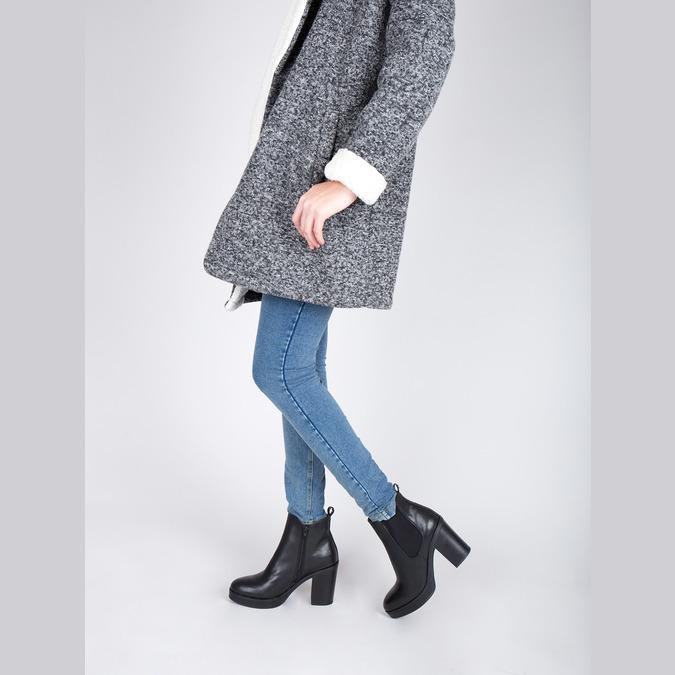 Kotníčková obuv na masivním podpatku bata, černá, 791-6600 - 15