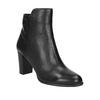 Kožená kotníčková obuv na podpatku gino-rossi, černá, 714-6010 - 13