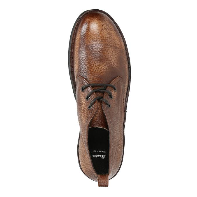 Kožená pánská kotníčková obuv bata, hnědá, 846-4607 - 19