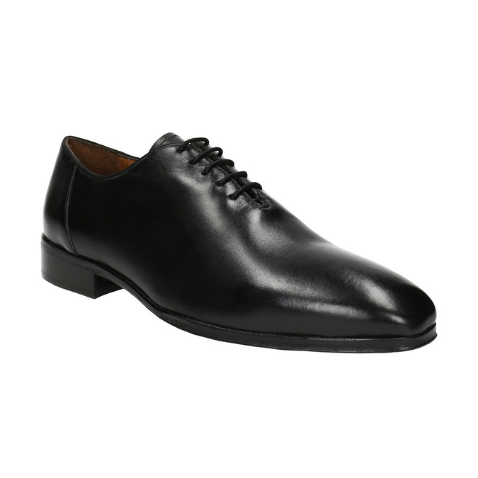 Černé celokožené Oxfordky bata, černá, 824-6788 - 13