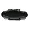 Lakovaná kabelka s prošitím bata, černá, 961-6708 - 15