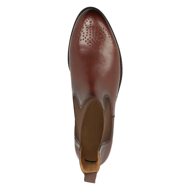 Kožená dámská Chelsea obuv gabor, hnědá, 516-3013 - 19