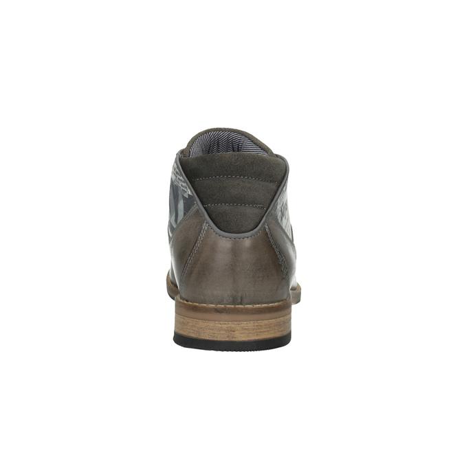 Ležérní pánské polobotky bata, šedá, 826-2735 - 17
