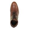 Hnědé kožené polobotky bata, hnědá, 826-3735 - 19