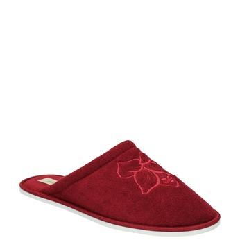Dámská domácí obuv bata, červená, 579-5610 - 13