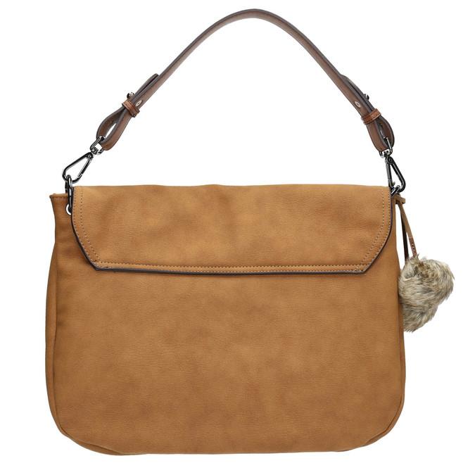 Dámská kabelka s bambulkami bata, hnědá, 961-3244 - 19