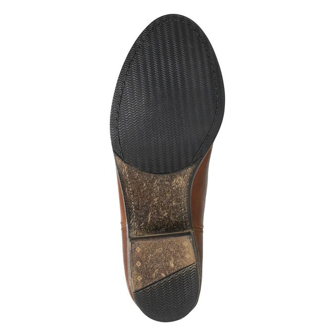 Kožené kozačky ve Western stylu bata, hnědá, 696-3607 - 26