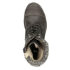 Dámská zimní obuv šněrovací bata, šedá, 591-6606 - 19