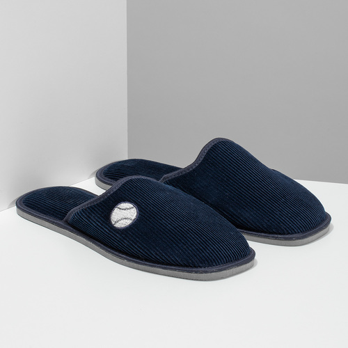 Pánská domácí obuv bata, modrá, 879-9609 - 26
