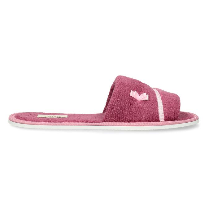 Dámské pantofle s mašličkou bata, růžová, 579-5609 - 19