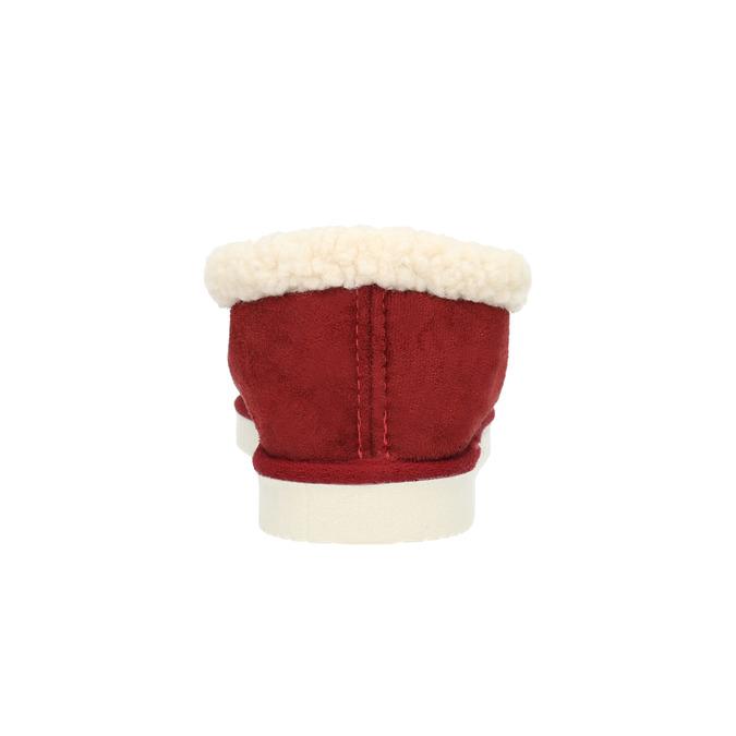 Domácí pantofle s umělým kožíškem bata, červená, 579-5612 - 17