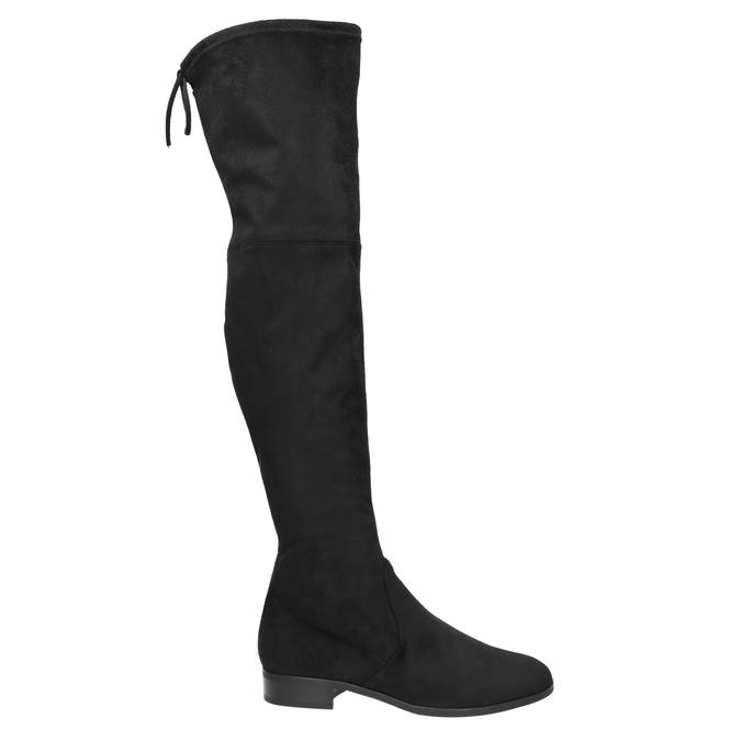 Kožené kozačky nad kolena hogl, černá, 693-6001 - 15