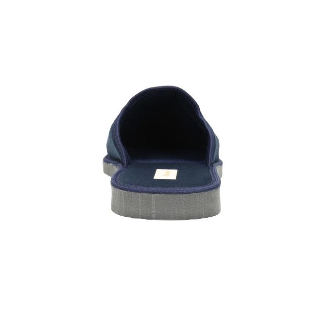 Pánská domácí obuv s plnou špicí bata, modrá, 879-9605 - 17
