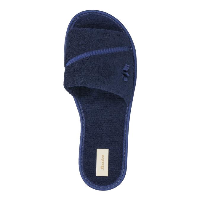 Dámská domácí obuv s mašličkou bata, modrá, 579-9609 - 19