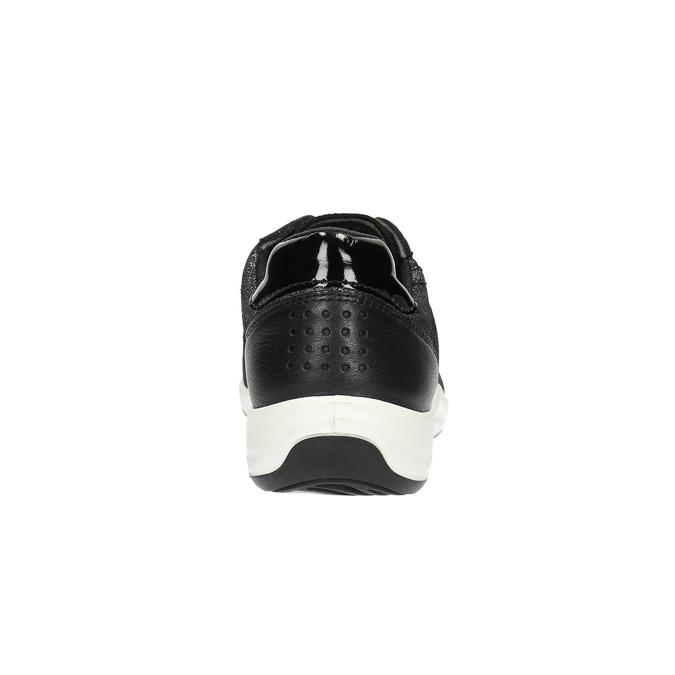 Kožené tenisky s jemným třpytem tbs-, černá, 626-6062 - 17