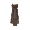 Kotníčková obuv s perforací el-naturalista, hnědá, 714-4041 - 17
