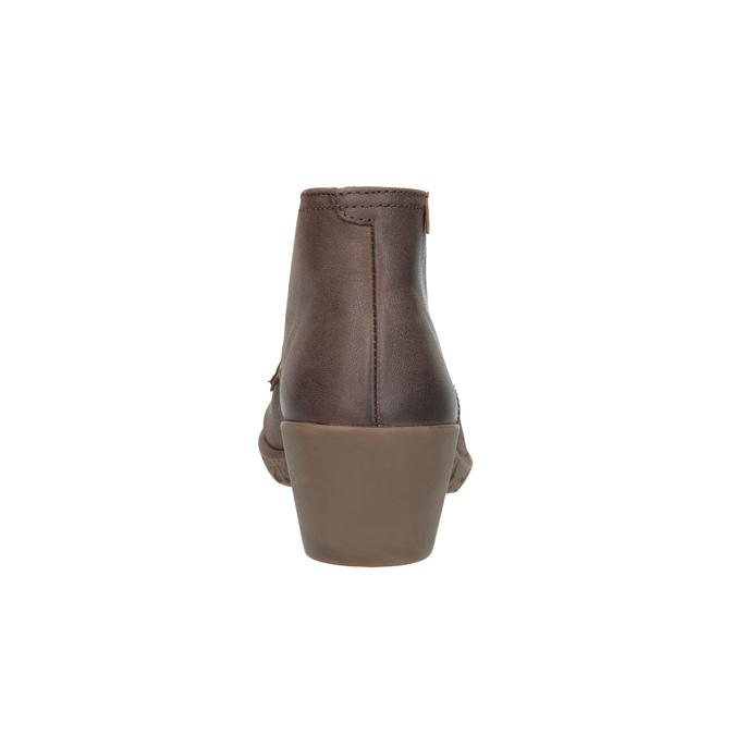 Kožená kotníčková obuv el-naturalista, hnědá, 624-4043 - 17