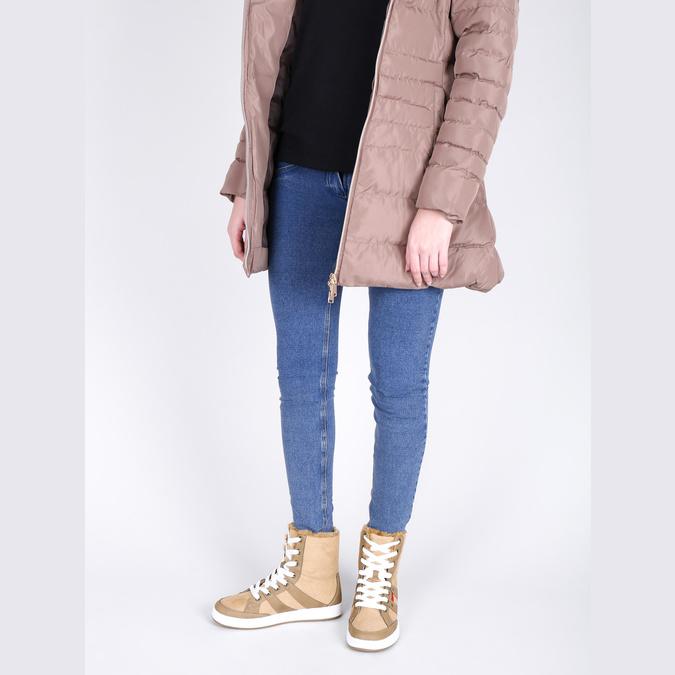 Dámská kotníčková obuv s kožíškem bata, hnědá, 599-4606 - 18