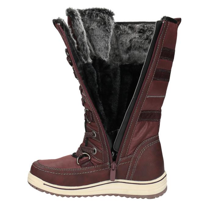 Dámské sněhule s kožíškem bata, červená, 599-5614 - 19