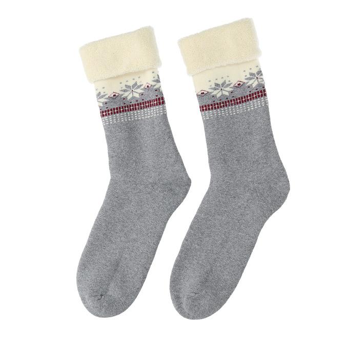 Teplé dámské ponožky bata, šedá, 919-2421 - 26