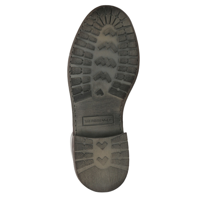 Dámská kožená kotníčková obuv weinbrenner, hnědá, 596-4632 - 26