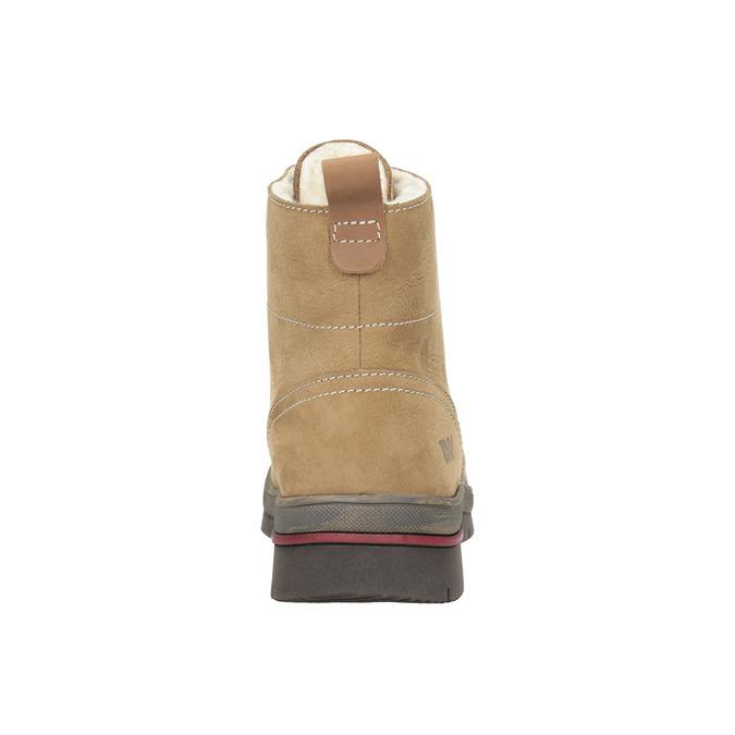 Dámská zimní obuv kožená weinbrenner, hnědá, 596-4636 - 17