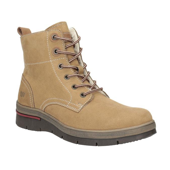Dámská zimní obuv kožená weinbrenner, hnědá, 596-4636 - 13