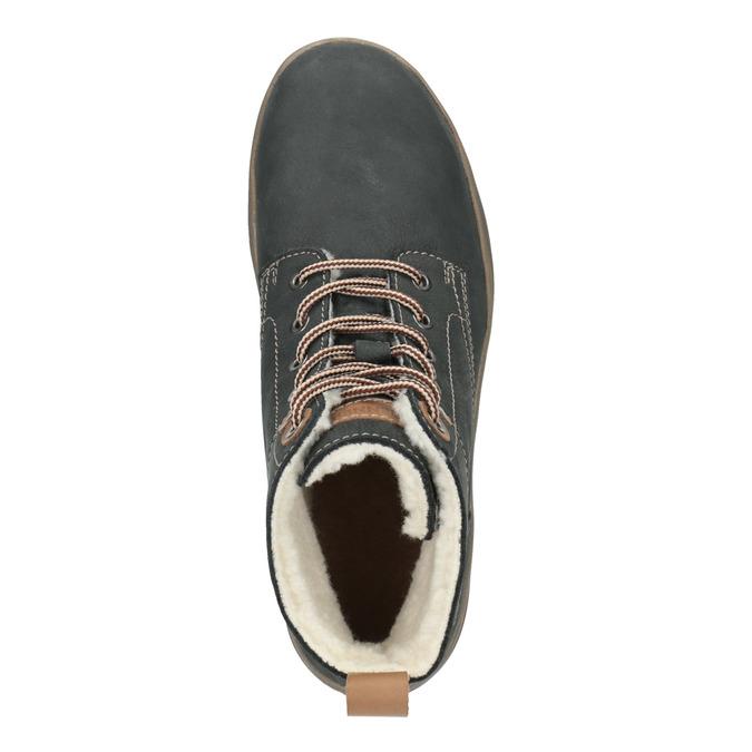 Kožená dámská zimní obuv weinbrenner, šedá, 596-2636 - 19