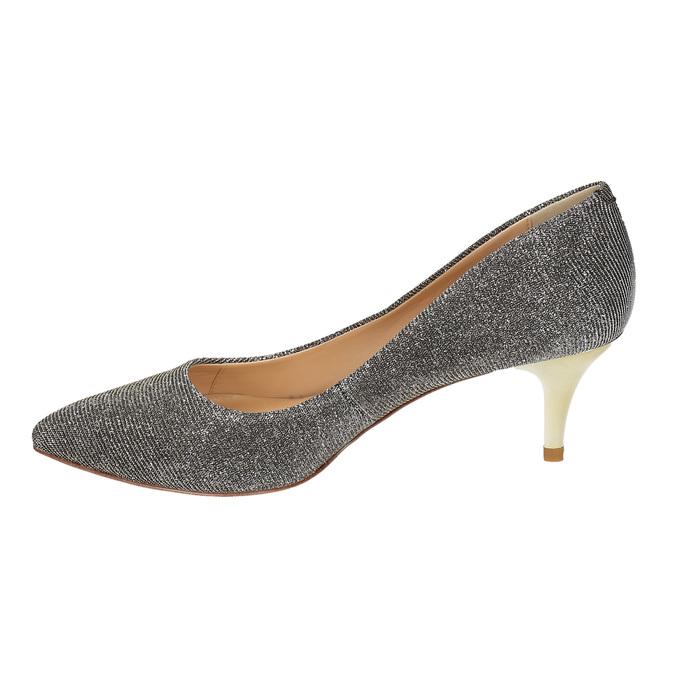 Lodičky na nízkém podpatku bata, stříbrná, 629-8631 - 26