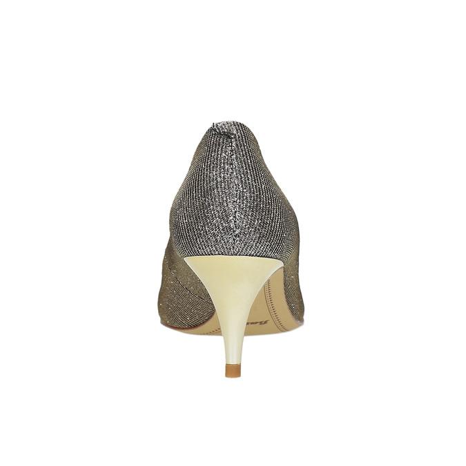 Lodičky na nízkém podpatku bata, stříbrná, 629-8631 - 17