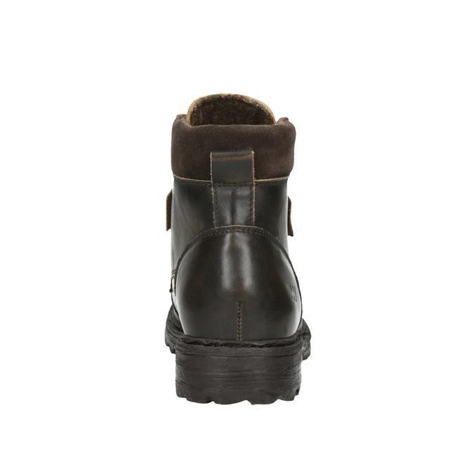 Pánská kožená kotníčková obuv weinbrenner, hnědá, 896-4110 - 17